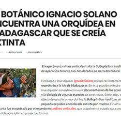 Ignacio Solano encuentra una orquídea que se creía extinta