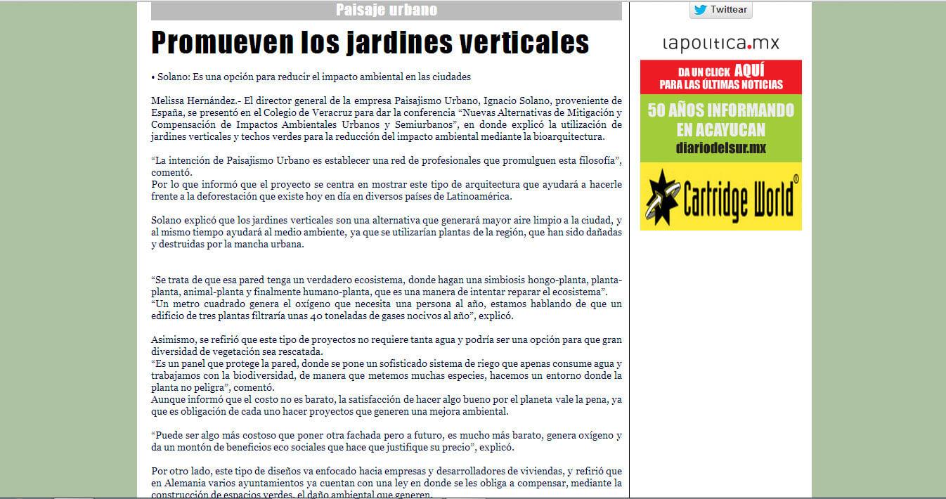 Promueven Los Jardines Verticales Ignacio Solano