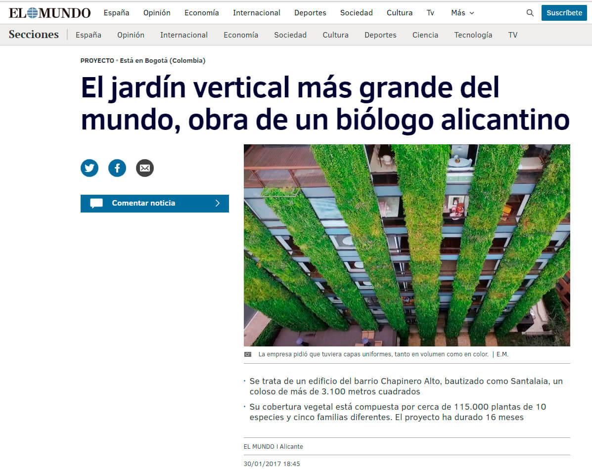 Ignacio solano responsable de dise ar el jard n vertical - El jardin vertical ...