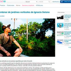 Medio centenar de jardines verticales de Ignacio Solano