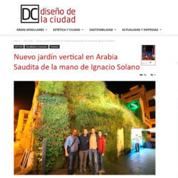 Nuevo jardín vertical de Ignacio Solano en Arabia Saudita
