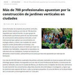 Más de 700 profesionales apuestan por la construcción de jardines verticales en ciudades