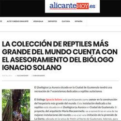 Ignacio Solano asesor de la colección de reptiles más grande del mundo