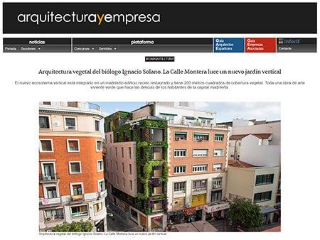 Ignacio Solano crea un corazón verde en el centro de Madrid