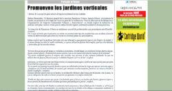 Ignacio Solano promueve los jardines verticales