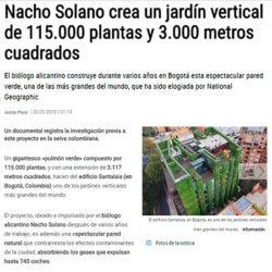 Un alicantino crea uno de los jardines verticales más grandes del mundo